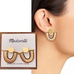 NWT Madewell Enamel Rainbow Earrings